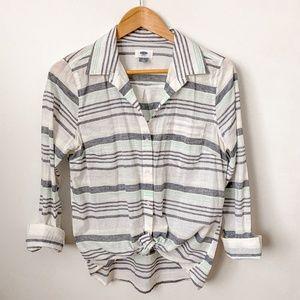 Old Navy Striped Tunic Shirt